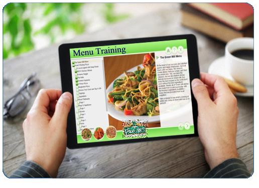 Menu Training, restaurant e-learning Development, Restaurant e-Learning Topics