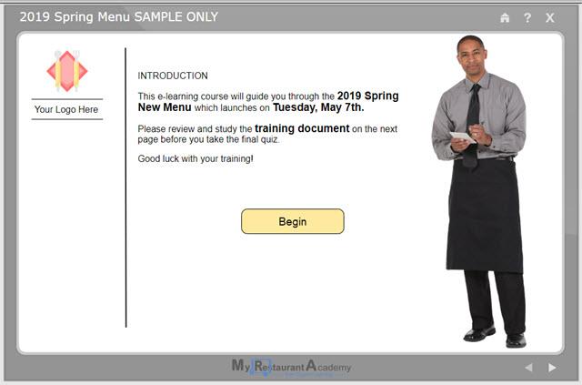 restaurant course development, restaurant e-learning development